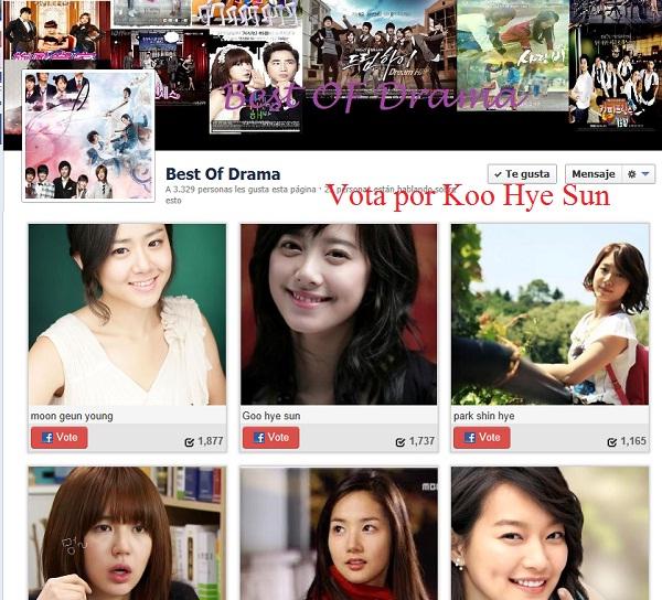 Vota por la mejor actriz coreana.